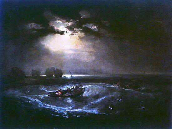 터너(Turner)는 파랑색이 두려움과 절망을 암시한다고 생각했습니다.
