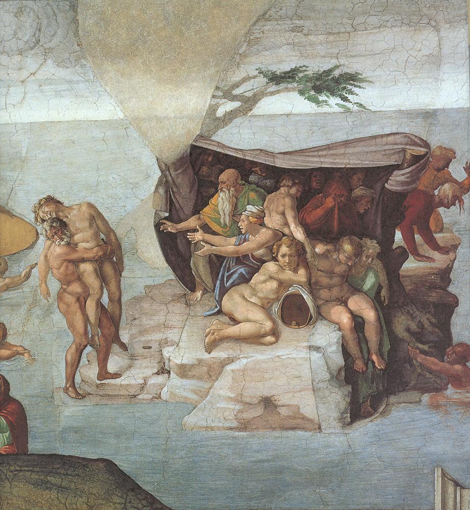 Ceiling of the Sistine Chapel: Genesis, Noah 7-9: The ...