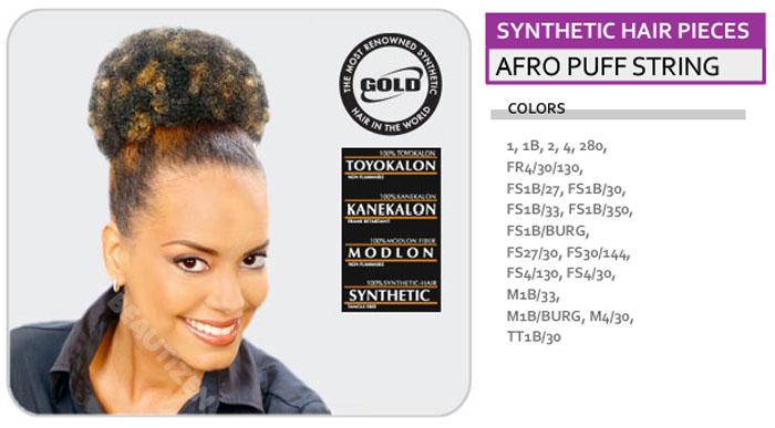 Human Hair Afro Puff Drawstring 85
